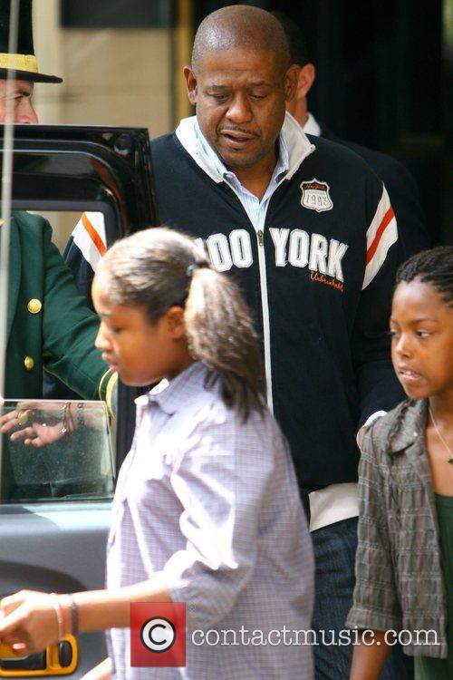Forest Whitaker and his daughters get into a...
