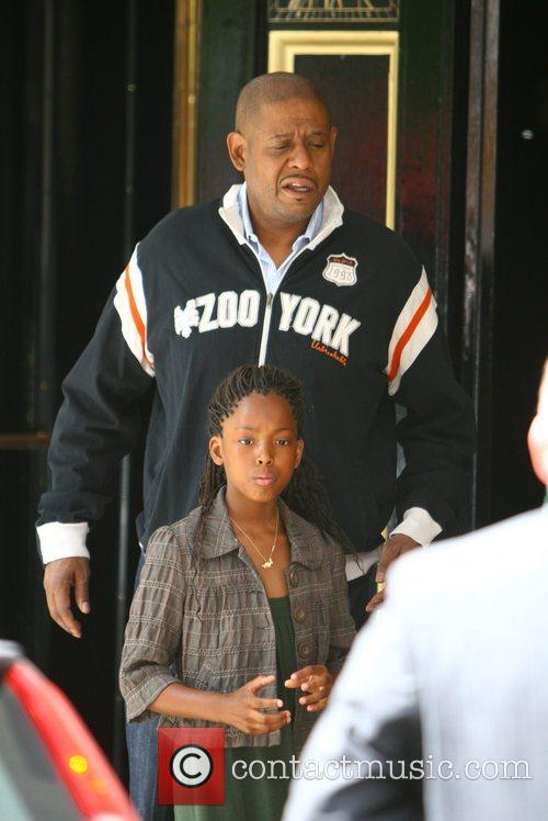 Forest Whitaker and his daughter wait for a...