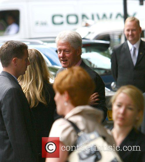 Former US president Bill Clinton outside the Dorchester...