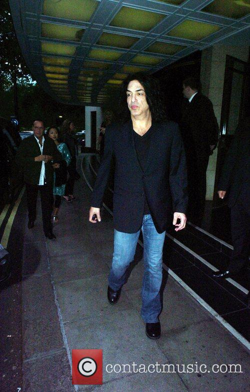 Paul Stanley of the rock band Kiss leaving...