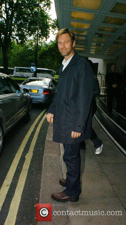 Aaron Eckhart at the Dorchester for dinner London,...