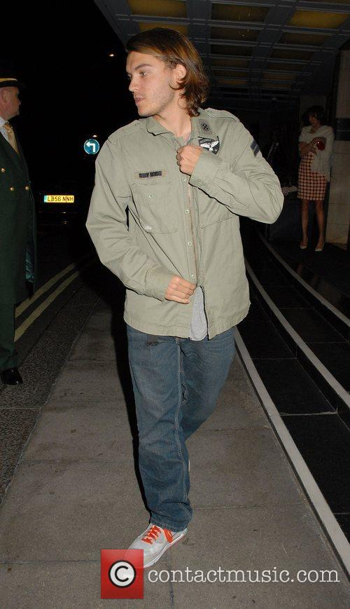 Emile Hirsch outside the Dorchester Hotel London, England