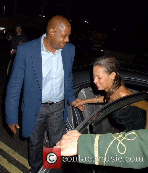 Forest Whitaker and Keisha Whitaker outside the Dorchester...