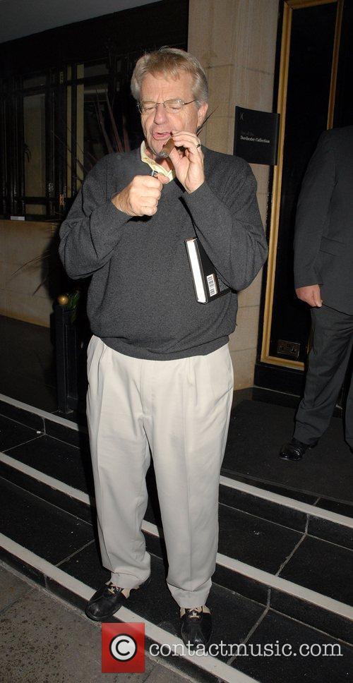 Jerry Springer outside the Dorchester Hotel London, England
