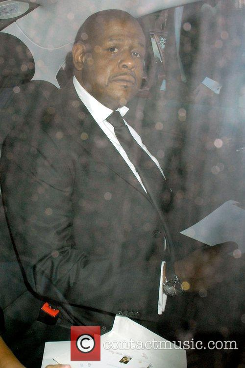 Forest Whitaker outside the Dorchester Hotel