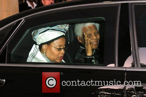 Nelson Mandela at the Dorchester Hotel