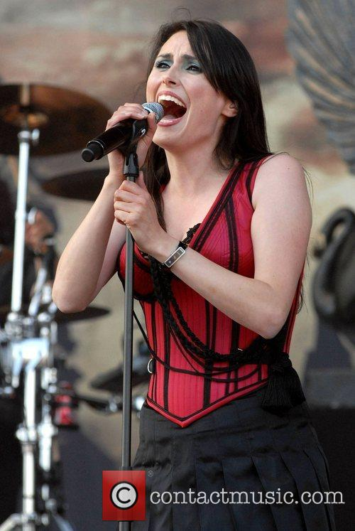 Sharon den Adel of 'Within Temptation' Download Festival...