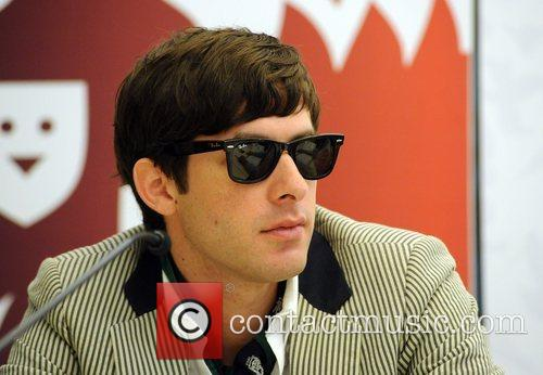 Mark Ronson at a press conference before the...