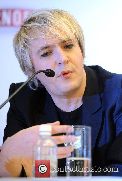 Nick Rhodes of Duran Duran at a press...