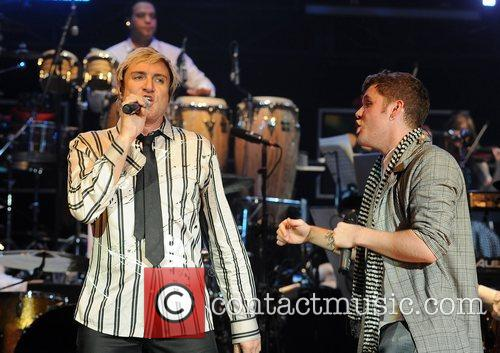 Duran Duran and guest performing at the 'Smirnoff...