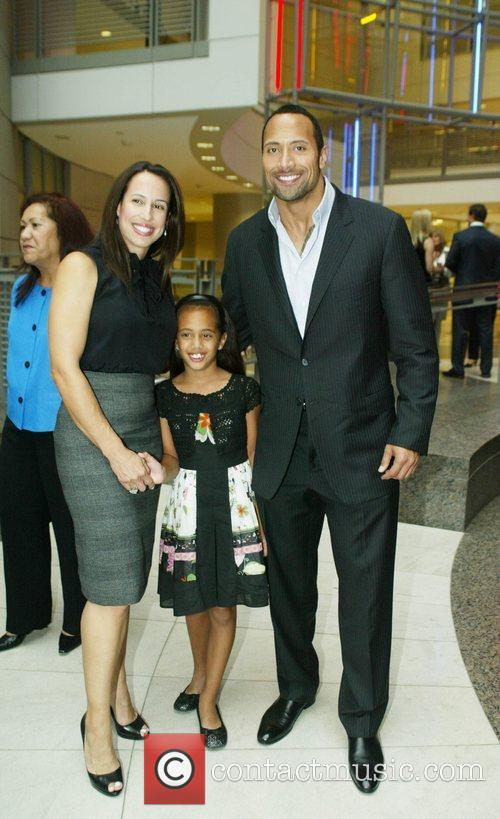 Dwayne Johnson, The Rock With His Ex-wife and Daughter 2