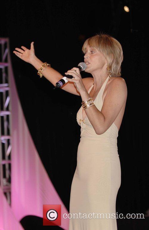 Sharon Stone hosting the auction 2008 Eagle &...