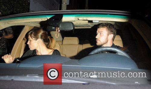 Jessica Biel and Justin Timberlake leaving El Beso...