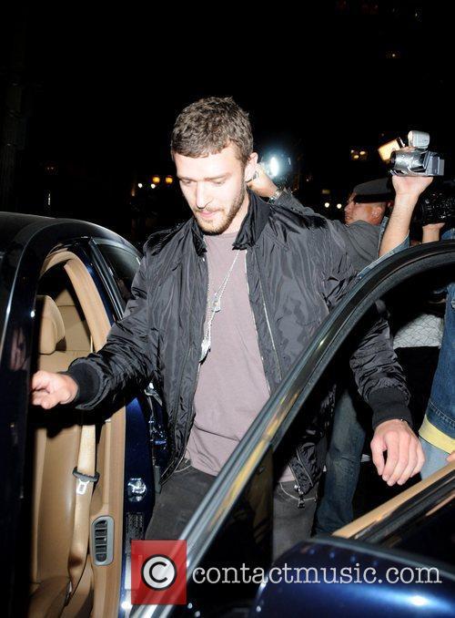 Justin Timberlake leaving El Beso restaurant Hollywood, California
