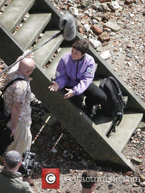Dame Ellen MacArthur  being interviewed by a...