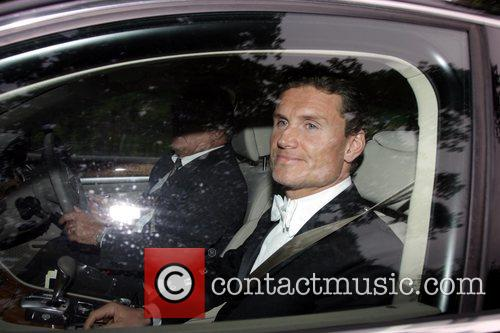 David Coulthard arriving at a party hosted by...