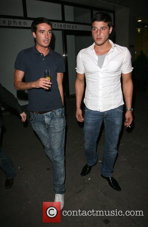 Jack Tweedy and A Friend Leaving Embassy Nightclub.