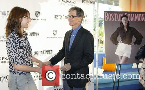 Emily Mortimer and Red Sox Owner John Henry 6