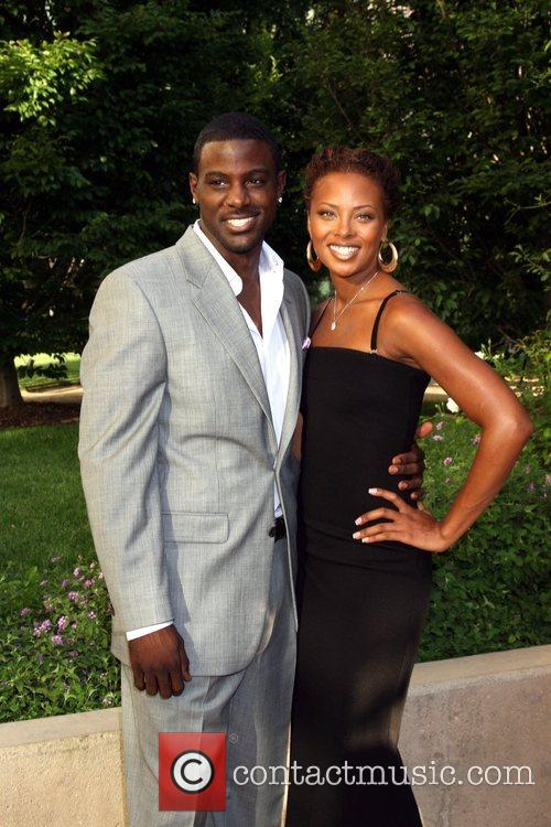Lance Gross and Eva Marcille Academy of Television,...