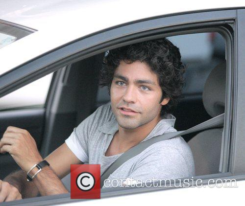 Adrian Grenier on the set of the HBO...