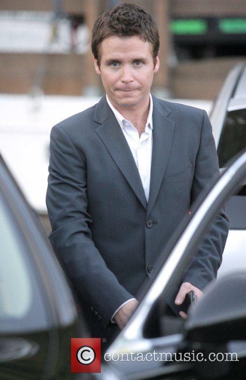 Kevin Connolly on the set of the HBO...