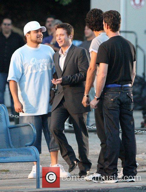 Jerry Ferarra and Kevin Connolly on the set...