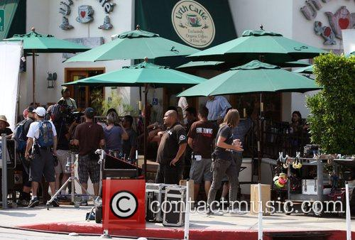 Atmosphere The cast of HBO's 'Entourage' filming a...