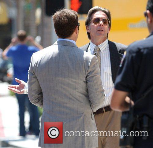 Gary Cole on the set of 'Entourage' filming...