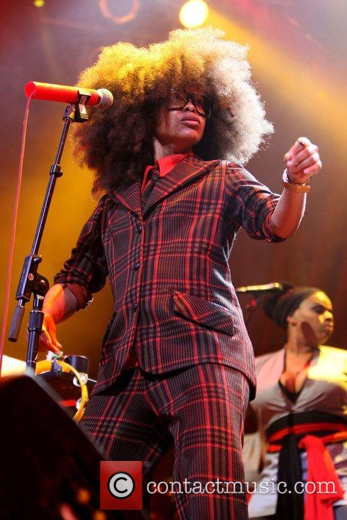 Erykah Badu performs at the House of Blues...