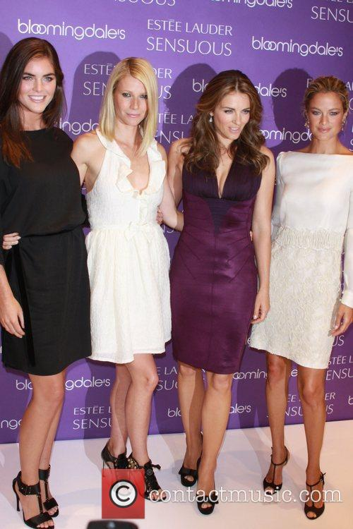 Hilary Rhoda, Gwyneth Paltrow, Elizabeth Hurley and Carolyn...