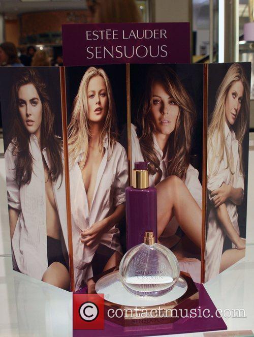 Sensuous Estee Lauder Spokesmodels appear at Bloomingdales to...