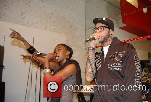 Estelle, Travis McCoy Estelle performing at the Puma...