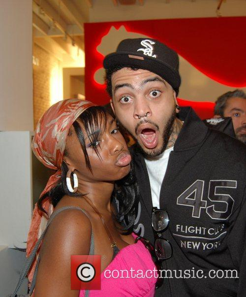 Travis McCoy, Guest Estelle performing at the Puma...