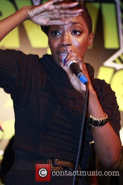 Estelle performs an instore gig at Zavvi on...