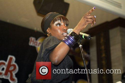 Estelle performing an instore gig at Hard Rock...