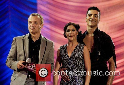 Graham Norton with Portugal's Joao Tiago and Raquel...