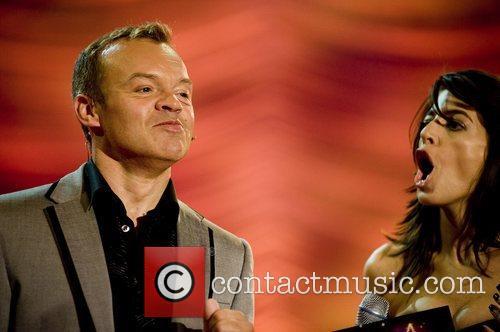 Hosts Graham Norton and Claudia Winkleman Eurovision Dance...