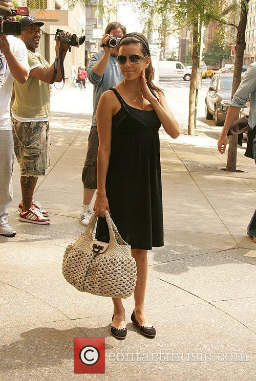 Eva Longoria Parker returns to her Manhattan hotel...