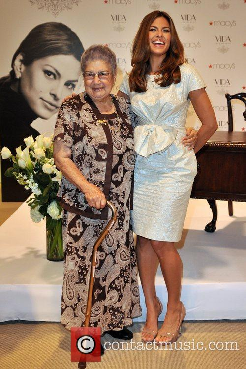 Eva Mendes and her Grandmother Eva Mendes launches...