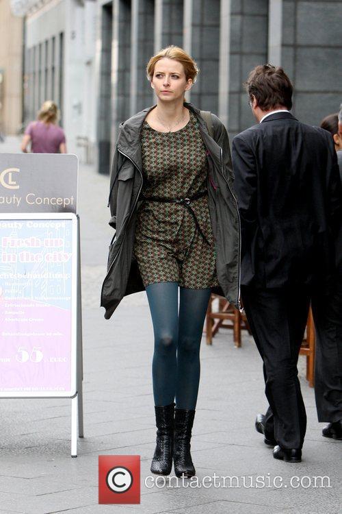Eva Padberg leaving the Hotel de Rome,