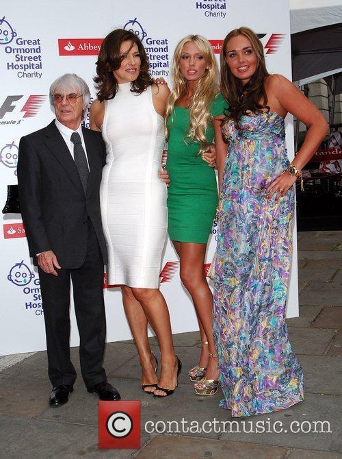 Bernie Ecclestone, Slavikatamara and Petra Ecclestone 1