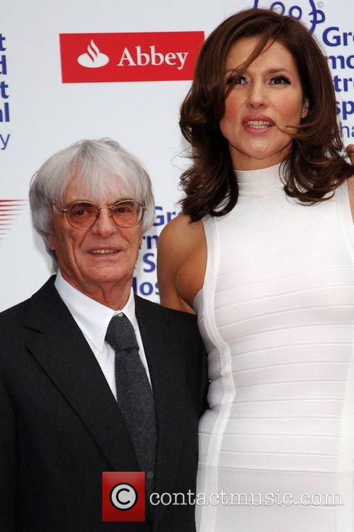 Bernie Ecclestone, Slavika Ecclestone The F1 Party at...