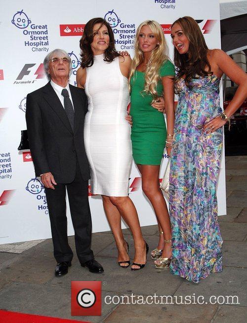 Bernie Ecclestone, Slavikatamara and Petra Ecclestone 3