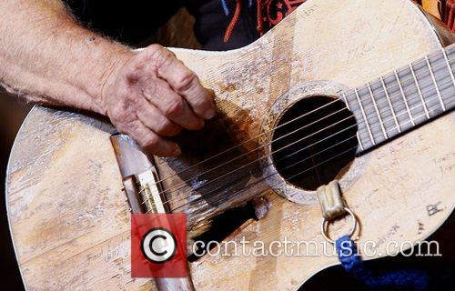 Willie Nelson's guitar during Farm Aid 2008 at...