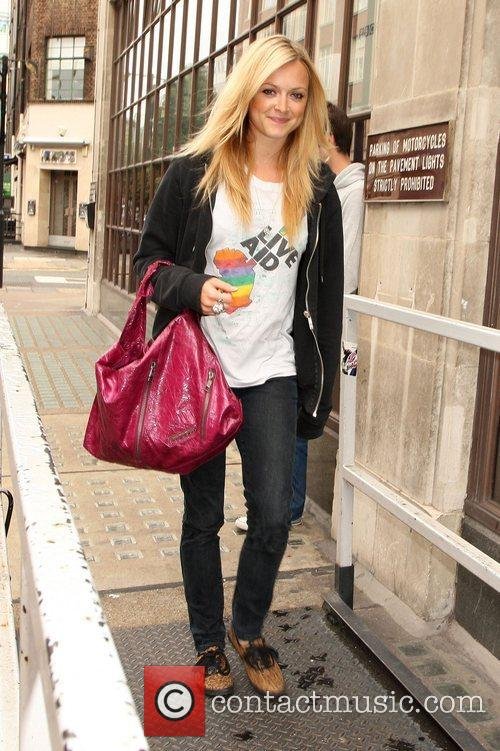 Fearne Cotton arriving at the BBC Radio One...