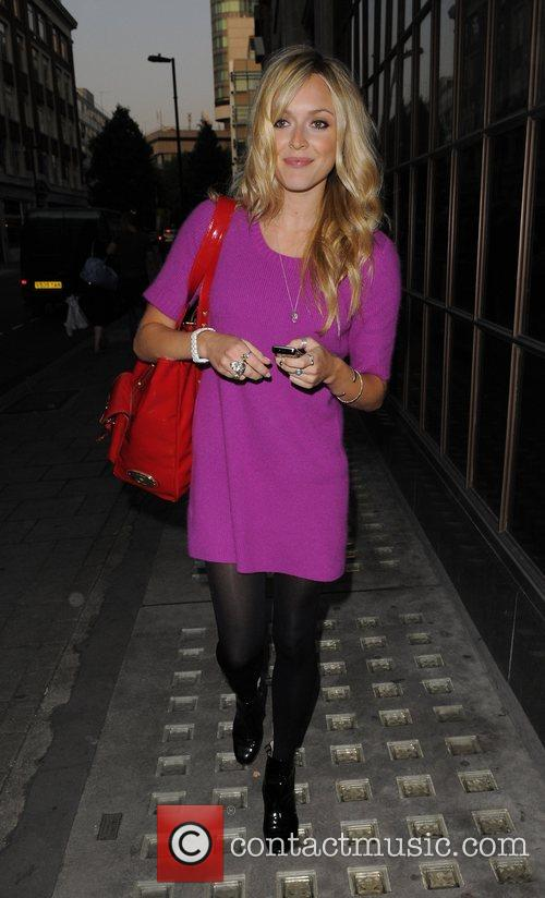 Fearne Cotton leaving the Radio 1 studios, having...