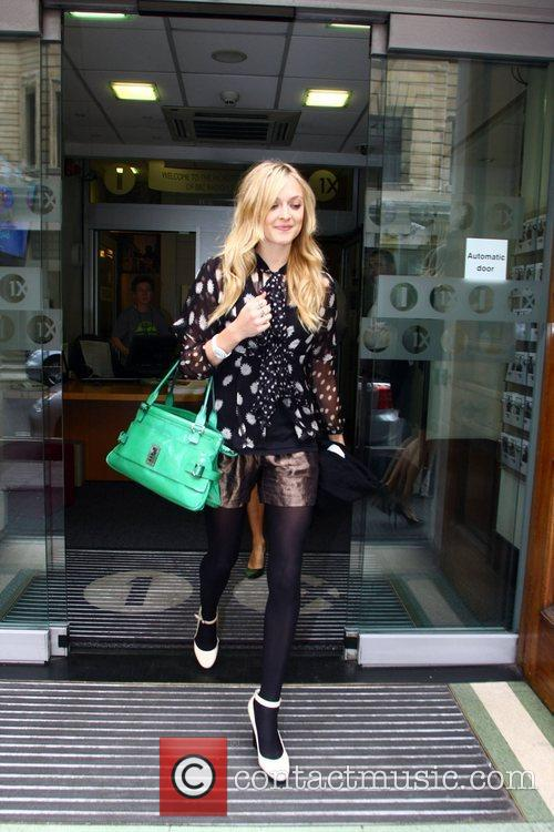 Fearne Cotton  leaving Radio 1. London, England