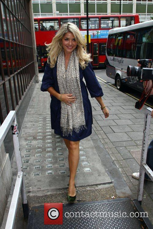 Holly Willoughby arriving at Radio 1 London, England