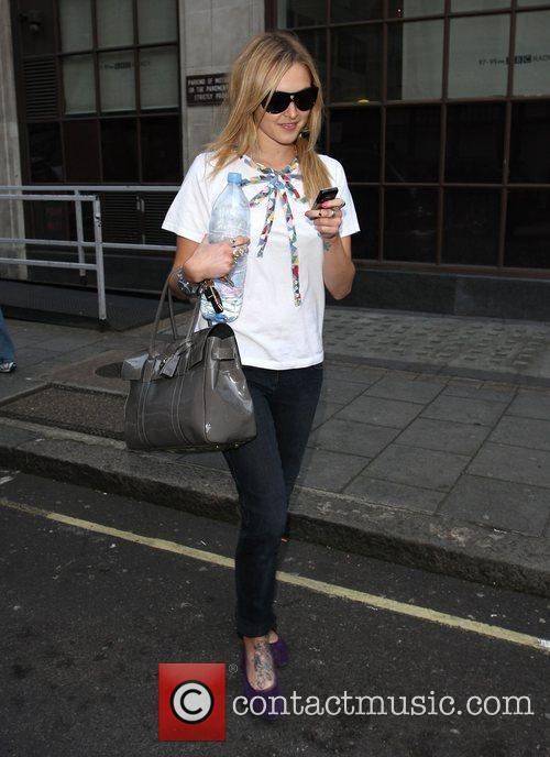 Fearne Cotton leaving the Radio1 studios London, England