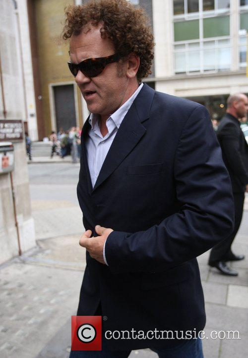 John C. Reilly arriving at Radio 1 to...